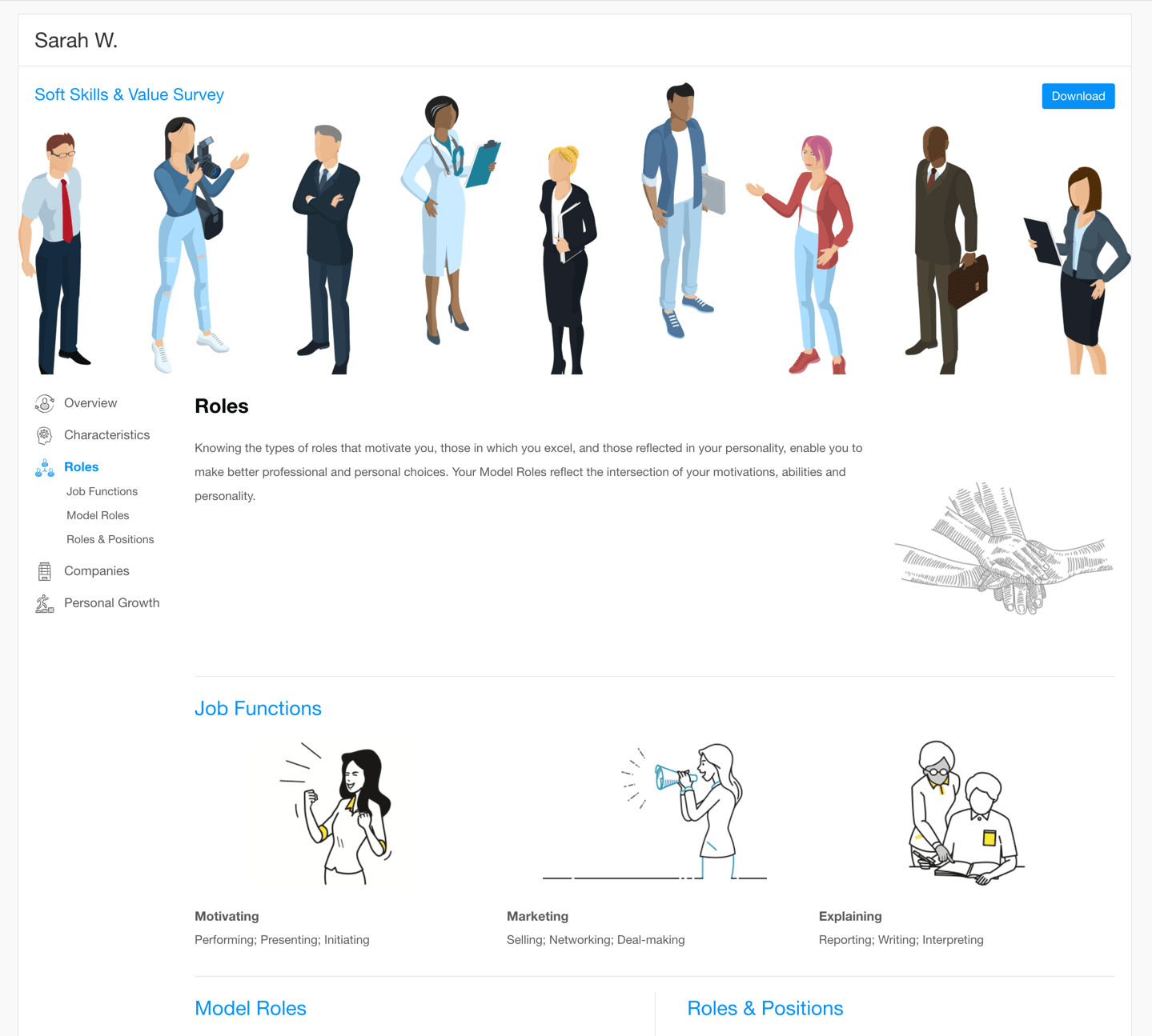 preview of Roles section